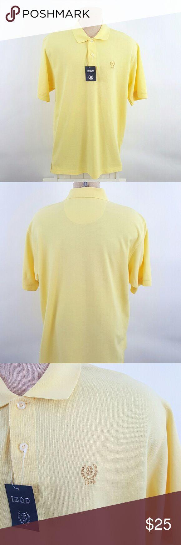 "NWT Men's Izod polo NWT Yellow polo shirt by Izod. Size XL. length 30.5"", Armpit to armpit 24"" (BM-BM1) Izod Shirts Polos"