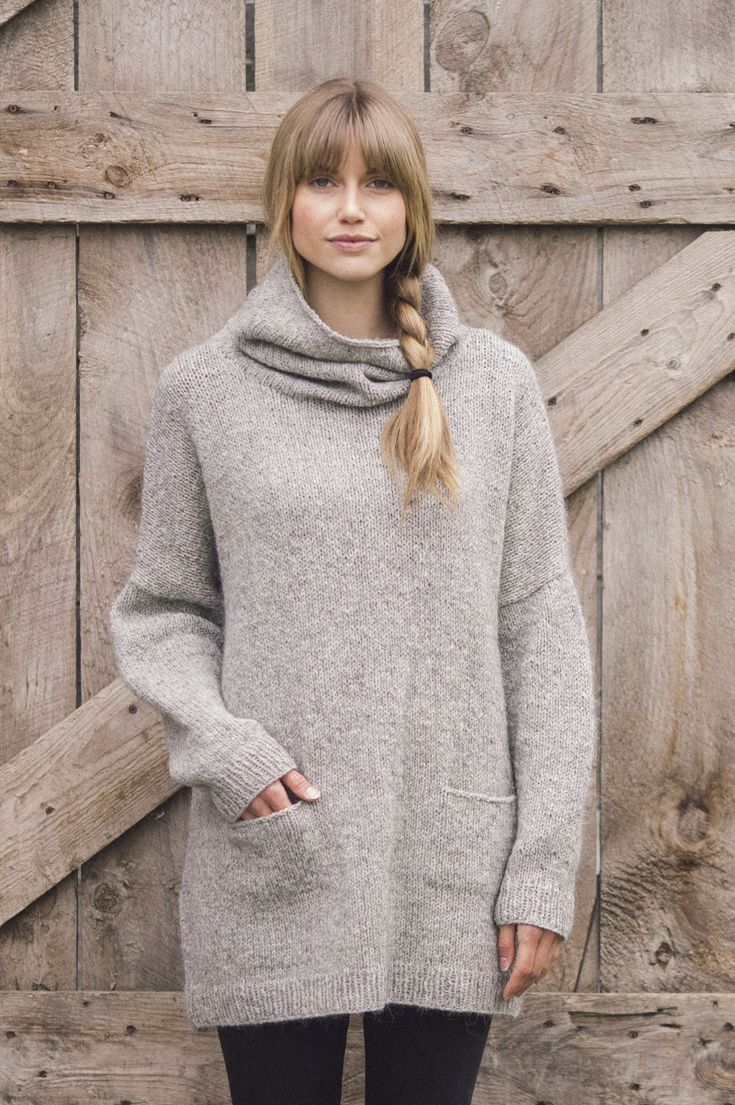 larch pullover by pam allen / from plain & simple: 11 knits to wear every day / in quince & co. owl, color albertine