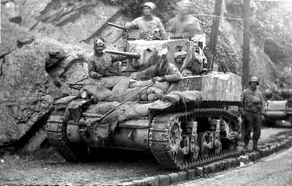 M5A1 light tank in Verviers, Belgium 44