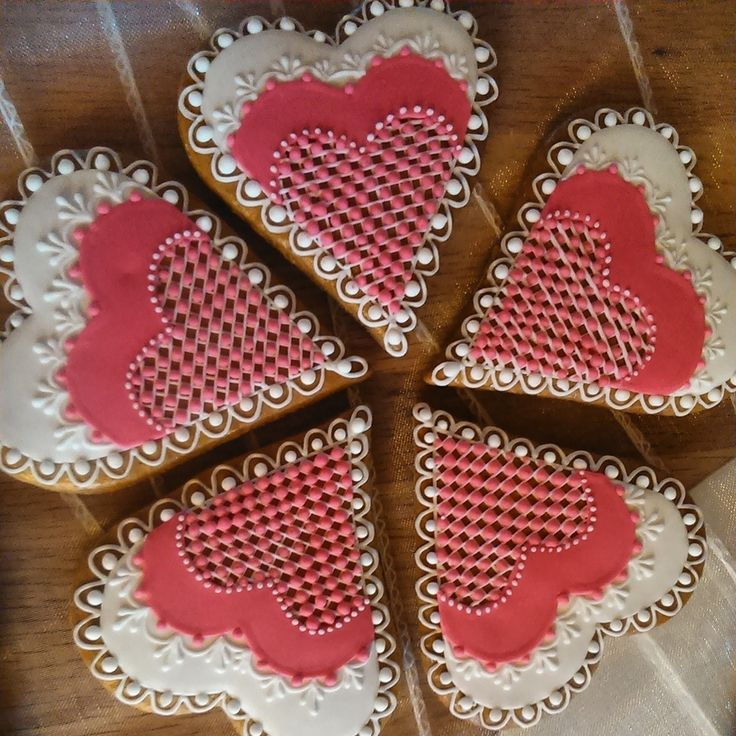 Wedding cookies for pink wedding