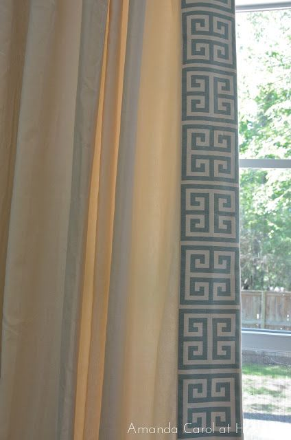 Tutorial for how to add pretty trim to the edges of drapes from Amanda Carol.  I can't wait to do this!