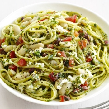 ... pasta with edamame and pesto sauce lemony almond spinach pesto pasta