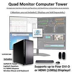 SUPER PC | Quad Monitor Computer | 6th Gen Intel Core i7 Quad-Core | SUPERPC440 #SUPERPC