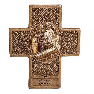 Vía Crucis 15 estaciones de 27cm piedra Bethléem | venta online en HOLYART