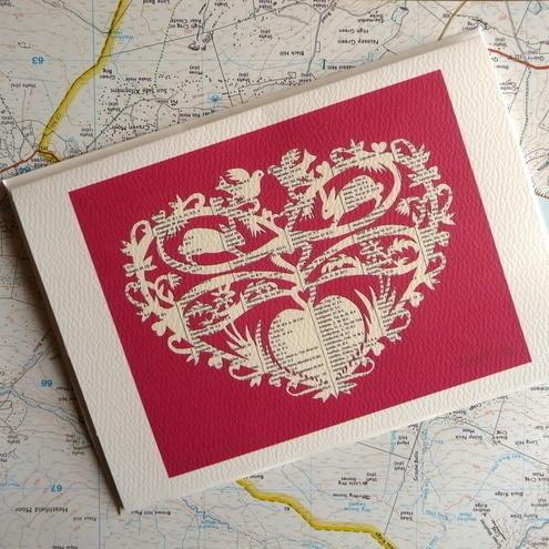 Papercut Valentine's card by Sylvie Howitt