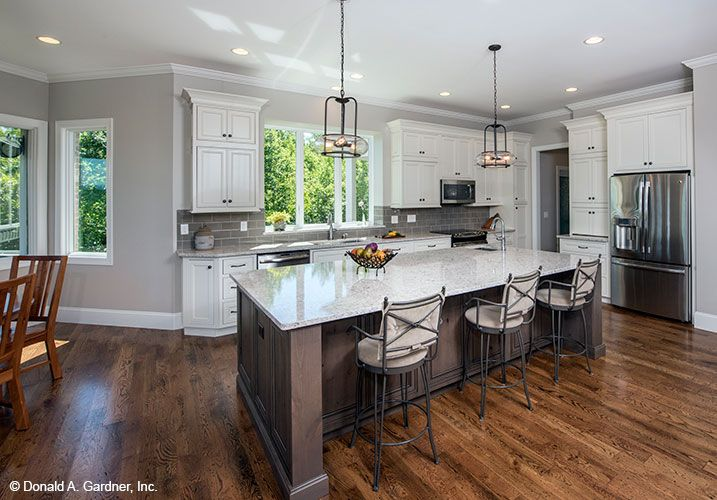 Open Concept Kitchen From The Butler Ridge Home Plan 1320