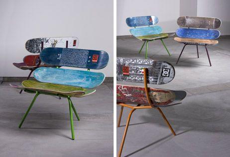 Bruthaus skate - snowboard en surboard meubilair http://www.bruthaus.be/board-furniture.html#dos123