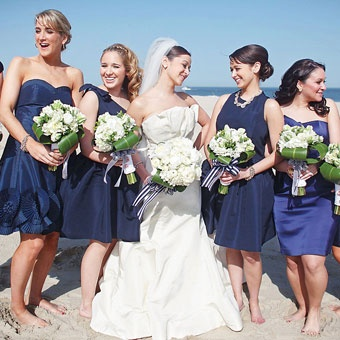 A Preppy Nautical New Jersey Wedding Bridesmaid Dresses Pinterest And