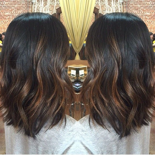 diy balayage on short black hair - Google Search