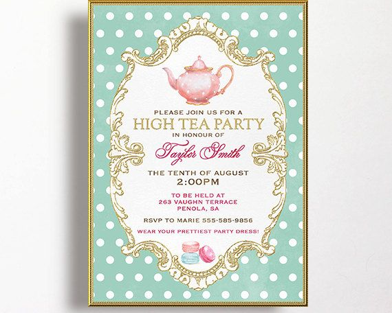1000 ideas about high tea invitations on pinterest