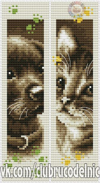 Dog and Cat bookmarks. Segnalibri cane e gatto.