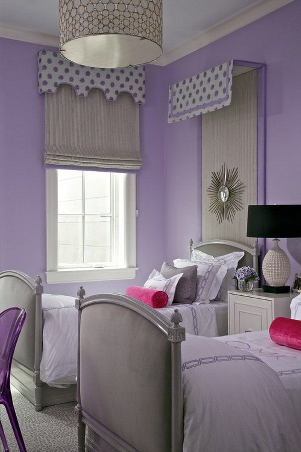 Purple Girl Bedroom http://hative.com/50-teenage-girl-bedroom-ideas-design/