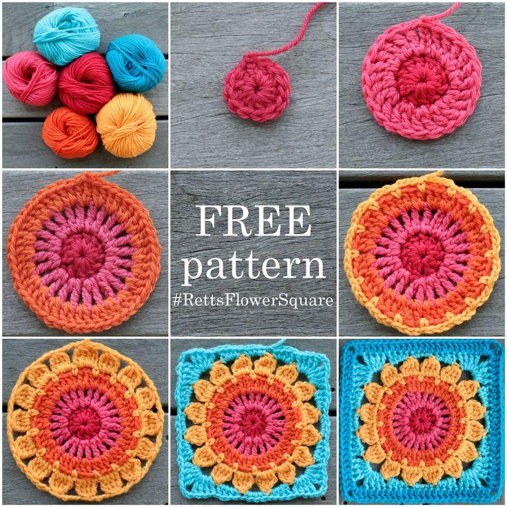 Free Crochet Pattern For Granny Square Sampler : 25+ best Granny squares ideas on Pinterest Crochet ...