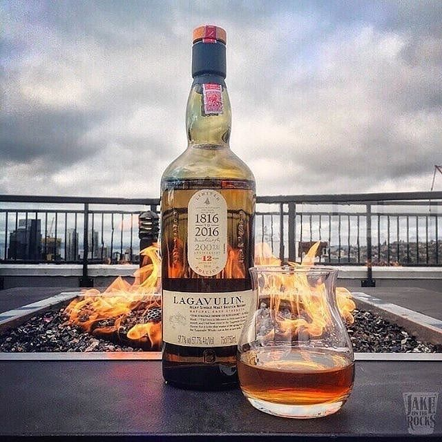 It's #thirstythursday so we get cosy with Lagavulin 12 Year Cask Strength Islay Single Malt Scotch!  Image and drink tip from @jake.on.the.rocks.  #astorbond #singlemalt #scotch #whisky #whiskey #scotchwhisky #whiskylife #whiskylover #sotl #whiskeygram #whiskeyporn #botl #whiskylove #whiskeylover #lifestyle #luxurystyle #instascotch #lagavulin #mensstyle