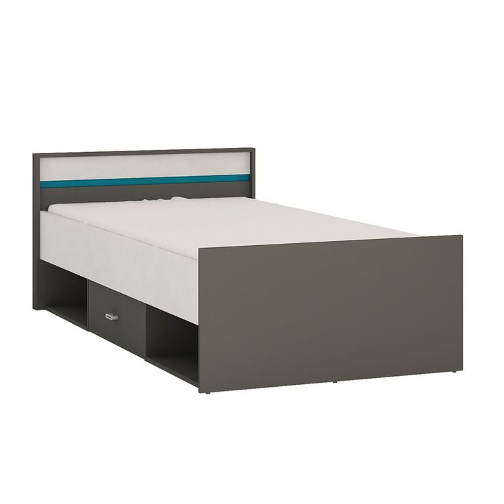 Alien Single Bed with Drawer and Open Storage