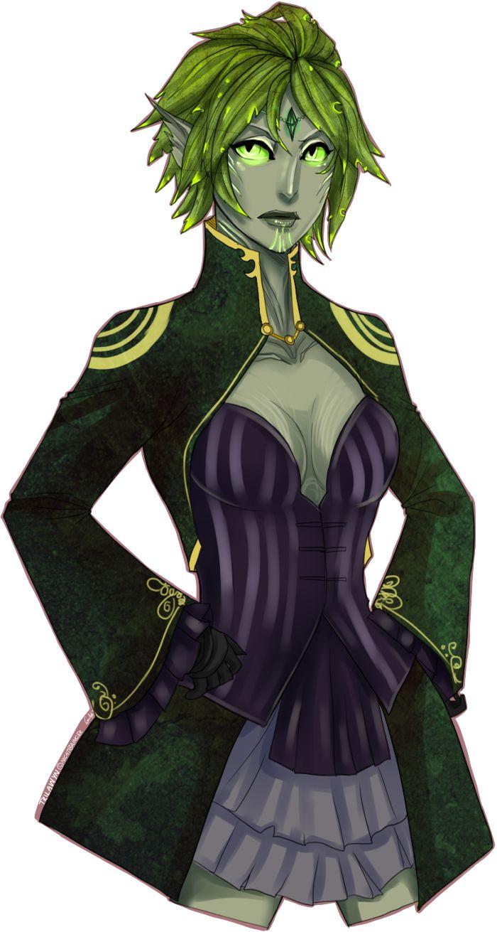 Guild Wars 2 Anime Characters : Sylvari elementalist trilawyn by hallowrook viantart