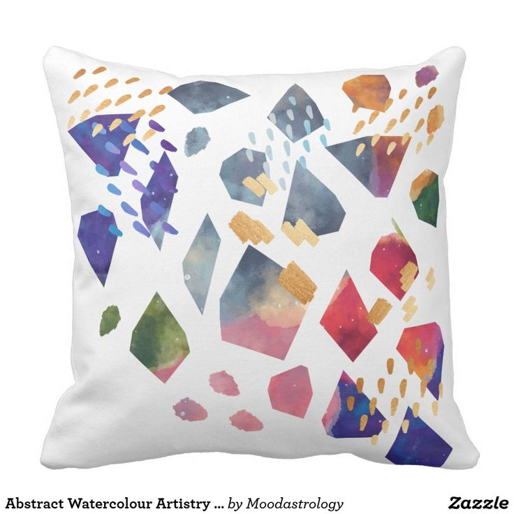 Abstract Watercolour Artistry Décor Accent Pillow