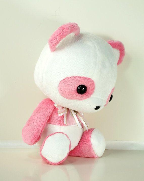 Cute Bellzi Stuffed Animal Pink W White Contrast Panda