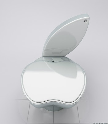 Apple toilets .... we HAD to post this.  #uniquehome #remodel
