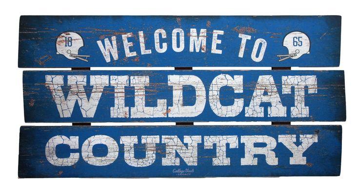 University Of Kentucky Man Cave Ideas : University of kentucky wildcat country wood plank sign