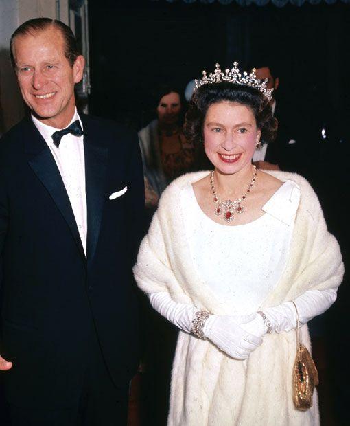 Queen Elizabeth II and Prince Philip arriving at the Manoel Theatre in Valleta, Malta, 1967