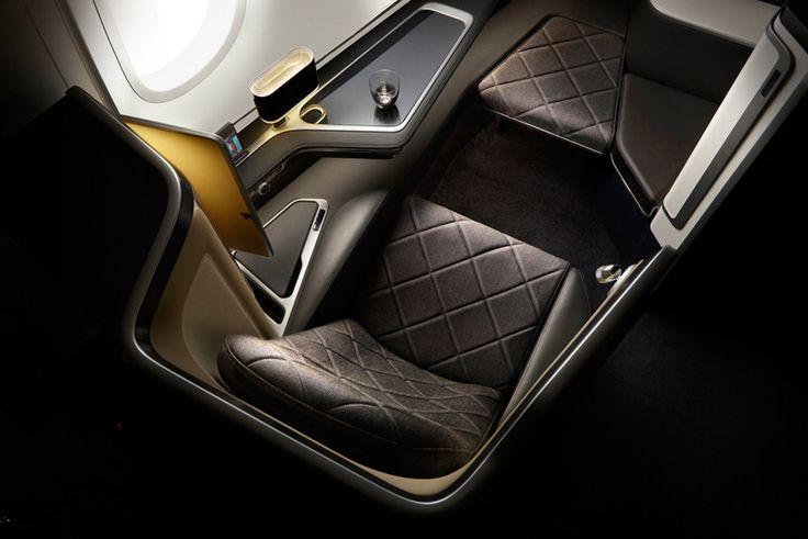 La société de design britannique Forpeople, a conçu cette suite de cabines pour premières classes du nouveau Boeing 787-9 Dreamliner de British Airways.
