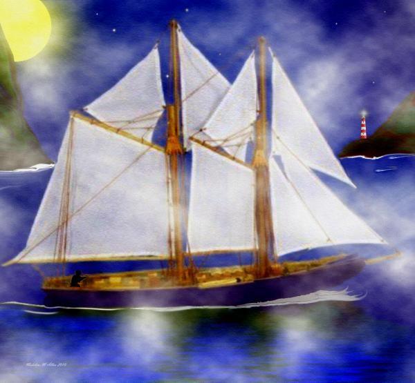 """SmudgeArt Digital Art Creation """"A Sailor's Dream"""""""