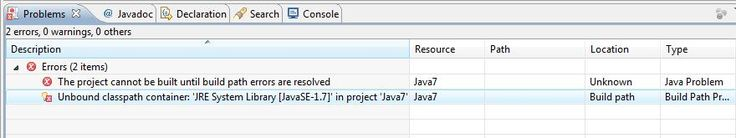 How to Remove Unbound classpath container / Build Path Entry Missing Error in Eclipse?