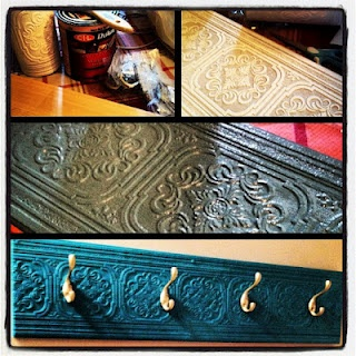 DIY Coat Rack -- I think I want one for the laundry/mudroom and the entryway. Just because.