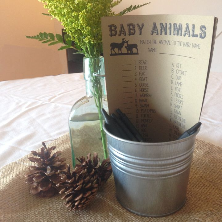 Camping Themed Baby Shower | right & west