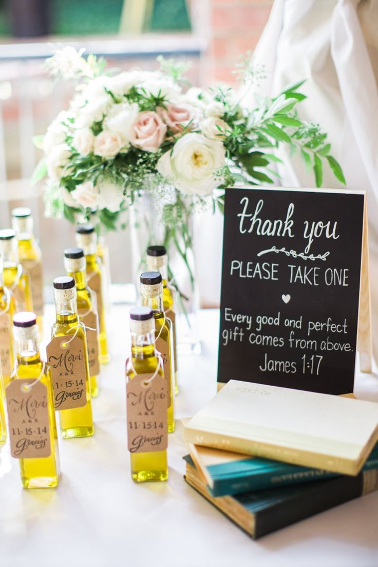 Olive oil wedding favors!