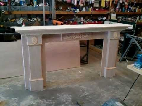 How to build a fireplace mantel and surround 3 of 5