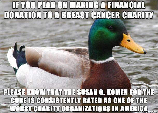 Since we're on the eve of Breast Cancer Awareness Month and the charity fund drives are already getting underway...