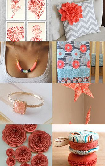 Coral  by Needle And Line on Etsy--Pinned with TreasuryPin.com