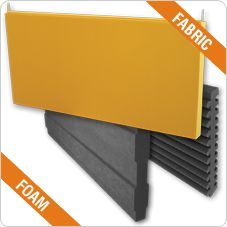Absorbent panel MELLOWAFFLE® and WIDEBAFFLE Fabric (Mellowaffle) finishing  Acoustic Foam (Widebaffle) finishing Available in different colors NRC: 1.09 (Mellowaffle) and 0.97 (Widebaffle) Installation: suspended on ceilings on metal wires 100% recyclable