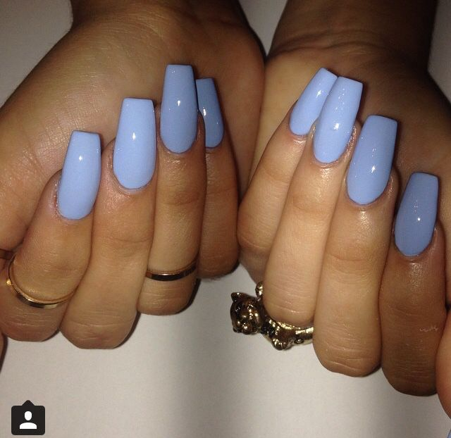Light blue coffin nails