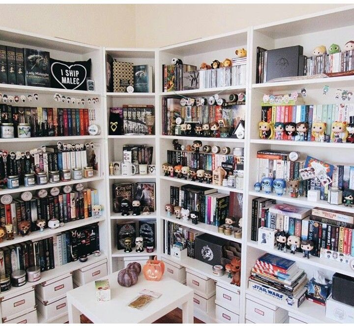 "Bookshelfie - I'm pinning this because of the ""I ship Malec"" pillow."