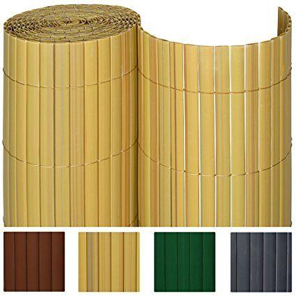 Sol Royal PVC Sichtschutz-Zaun SolVision - 120x400cm Bambus - Windschutz Kunststoff-Matten für Garten oder Balkon