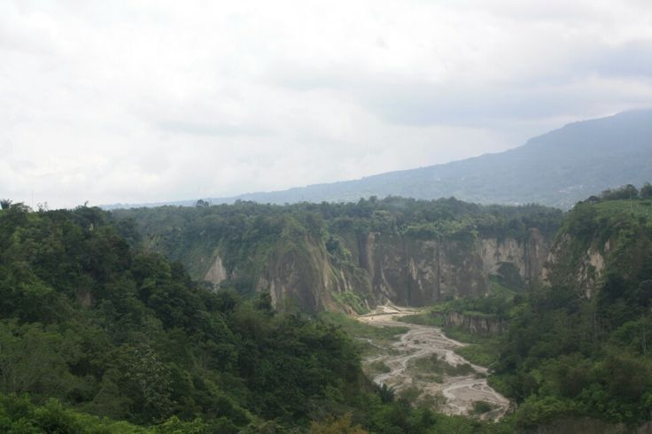 The famous sianok canyon in bukittinggi