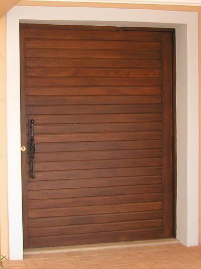 Horizontal Slatted Pivot Door - Doors Direct