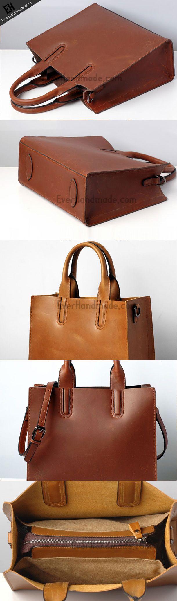Handmade Leather handbag shoulder bag purse tote for women