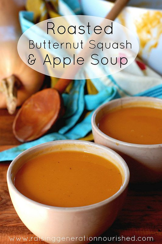 Roasted Butternut Squash & Apple Soup