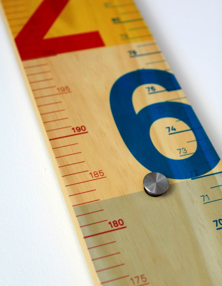Measure Me Stick modern growth chart by Studio1am on Etsy