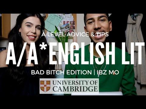 A/A* ENGLISH LITERATURE A LEVEL ADVICE & TIPS (BAD B**CH EDITION) | IBZ MO - YouTube