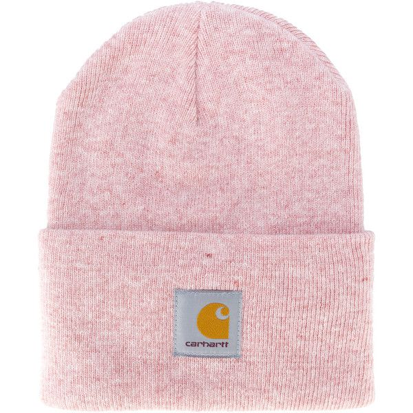 Carhartt logo patch beanie (€20) ❤ liked on Polyvore featuring accessories, hats, beanie cap hat, acrylic beanie hat, carhartt beanie, purple beanie and rosebud hats