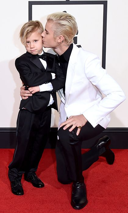 Justin Bieber's little brother Jaxon was the most stylish youngster on the carpet.