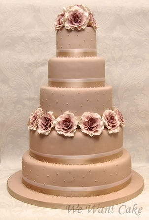 Wedding cake idea - in different colors