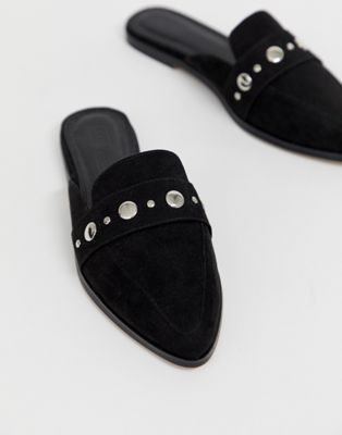 979b70f22 DESIGN Magpie pointed studded mules in black in 2019
