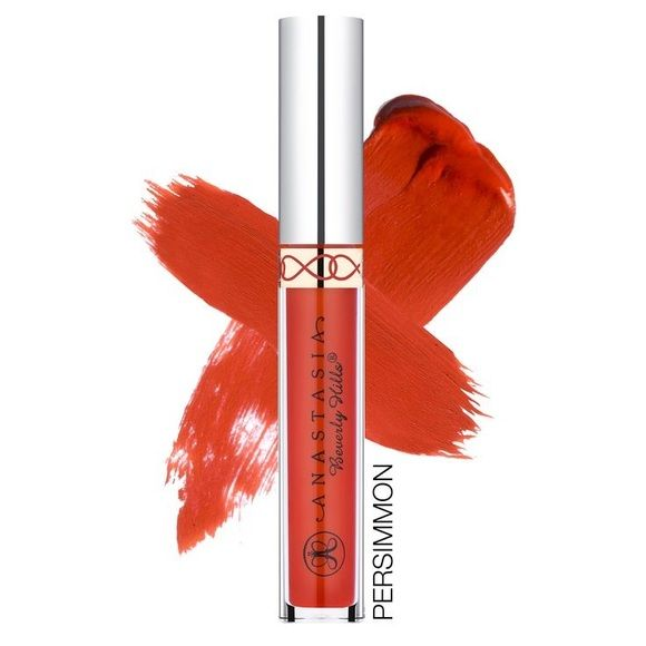 Anastasia of Beverly Hills Liquid Lipstick Shade: Persimmons. Described as an orangey red. Brand new in box. Sephora Makeup Lipstick