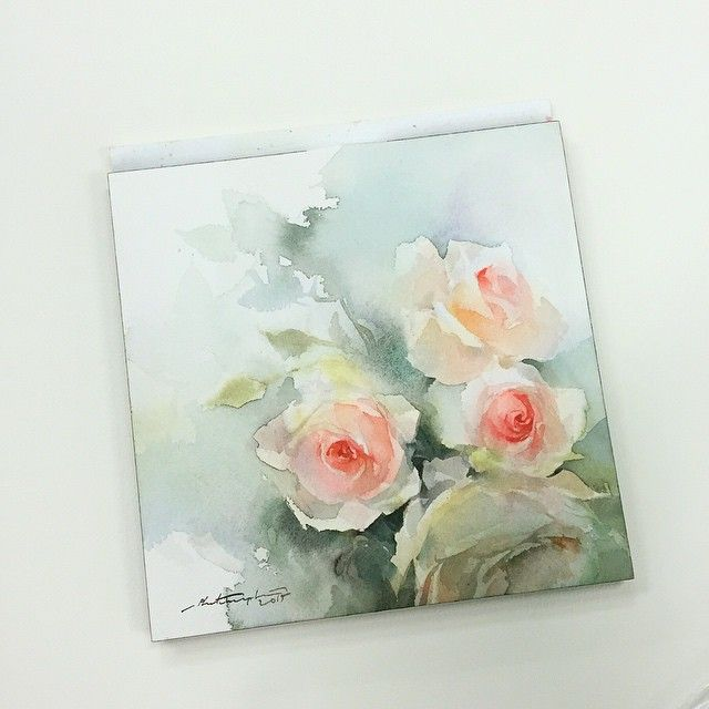 """Sweet petal no.2 #watercolor #paint #painting #art #artist #rose #roses…"